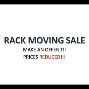 Rack Moving Sale ALL PRICES REDUCED Make Offer